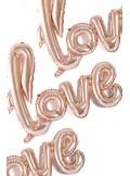 1 ballon LOVE rose gold