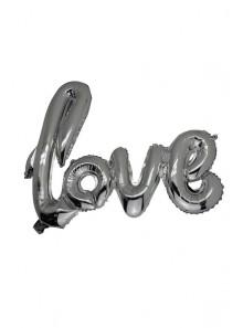 1 ballon LOVE argent