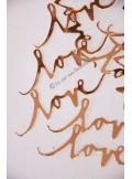 10 confettis LOVE rose gold