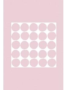 20 serviettes GROS POIS rose