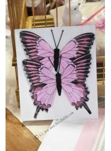2 papillons YANG rose