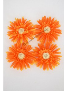 4 mini GERBERAS orange