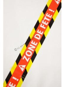 1 banderole ZONE DE FETE 9M