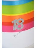1 Urne tirelire MULTICOLORE anniversaire 23cm
