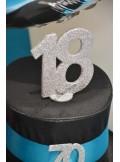 1 Chiffre anniversaire 18 argent