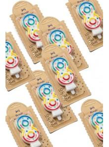 1 Bougie chiffre 8 multicolore