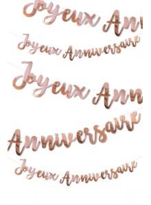 1 guirlande JOYEUX anniversaire Rose GOLD
