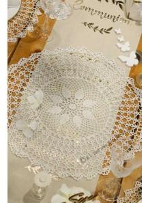 1 napperon crochet 50cm blanc