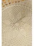 1 napperon crochet 50cm ivoire