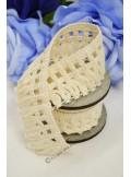 5M dentelle MACRAME ivoire 50mm