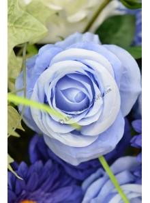 1 rose BLEU lavande