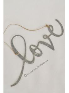 1 LOVE en métal à suspendre