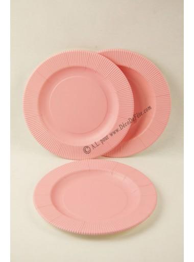 8 petites Assiettes ROSE MAT