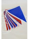 1 guirlande 20 fanions tricolores