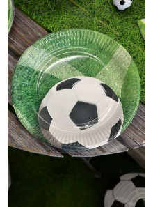 10 assiettes ballon de Foot et gazon