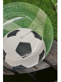 10 assiettes ballon de Foot et gazon