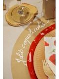 12 Sous assiettes papier KRAFT 34cm