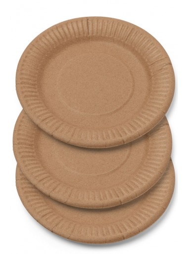 12 grandes assiettes carton KRAFT