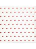 20 serviettes petits coeurs rouge