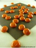 250G Bille de verre opale orange