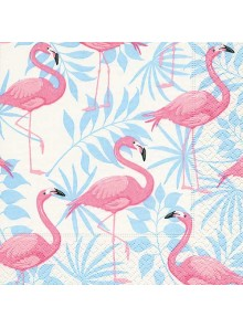 20 serviettes FLAMANTS ROSES