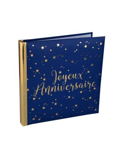 1 Livre d'or JOYEUX ANNIVERSAIRE  MARINE et OR