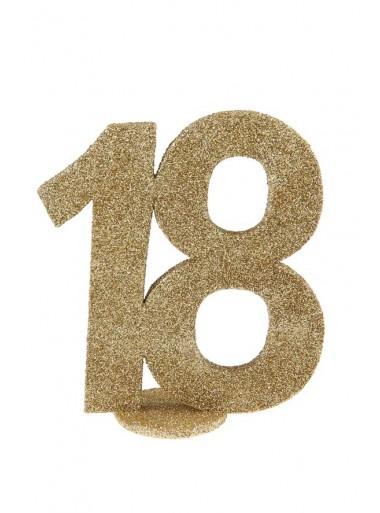 1 Chiffre anniversaire 18 or