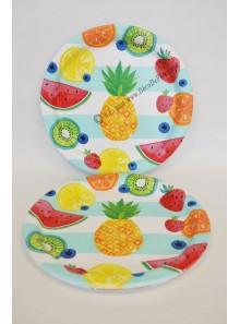 8 Assiettes FRUITS EXOTIQUES