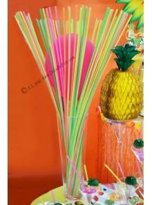 100 pailles 1M multicolores