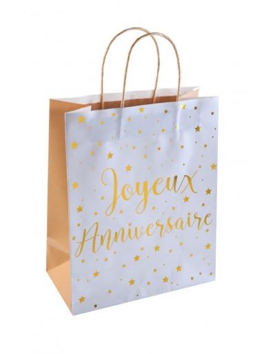 1 sac cadeau JOYEUX ANNIVERSAIRE