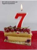 Bougie anniversaire chiffre 7