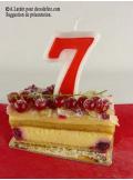 1 Bougie anniversaire chiffre 7