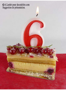 1 Bougie anniversaire chiffre 6