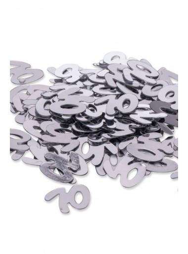 Confettis ARGENT 70 ans