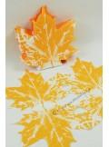 12 Serviettes Feuille de vigne orange