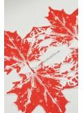 12 Serviettes Feuille de vigne rouge