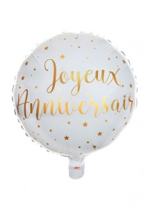 1 ballon METAL Joyeux Anniversaire