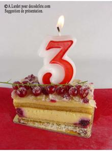 1 Bougie anniversaire chiffre 3