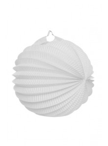 1 LAMPION rond blanc 20cm