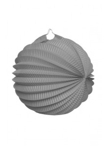 1 LAMPION rond gris 20cm