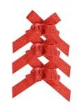 10 mini noeuds paillette rouge