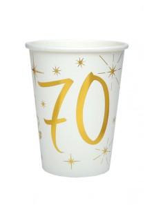 10 gobelets ANNIVERSAIRE 70 OR