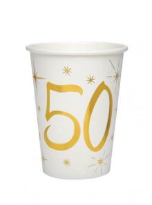 10 gobelets ANNIVERSAIRE 50 OR