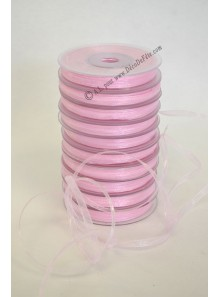 50m Ruban ROSE 3mm organdi