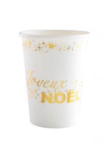 10 gobelets Joyeux NOEL OR