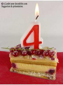 1 Bougie anniversaire chiffre 4