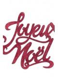 1 Joyeux Noel paillette rouge