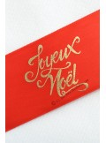 10m Ruban  JOYEUX NOEL rouge et or