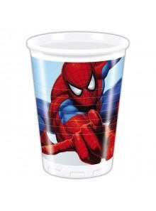 8 gobelets anniversaire spiderman