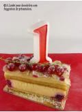 Bougie anniversaire chiffre 1